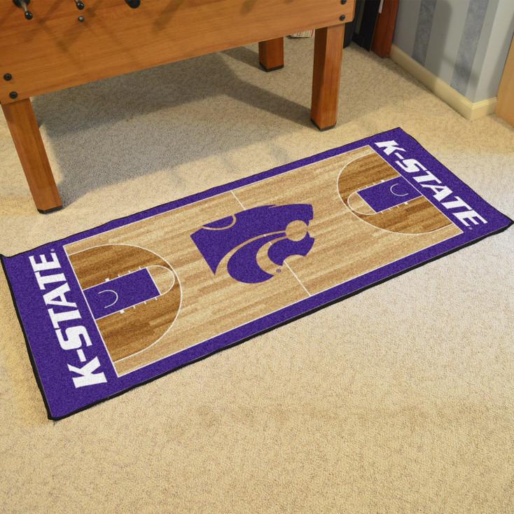 "30"" x 72"" Kansas State University NCAA Basketball Rectangle Runner Mat"