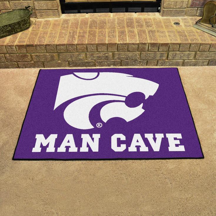 "33.75"" x 42.5"" Kansas State University Man Cave All-Star Purple Rectangle Mat"