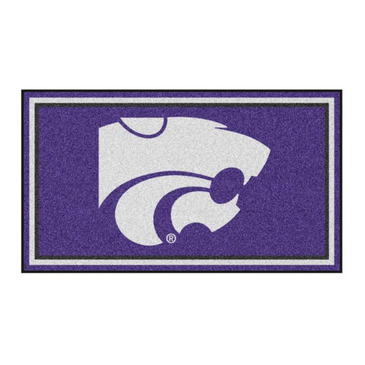 3' x 5' Kansas State University Purple Rectangle Rug