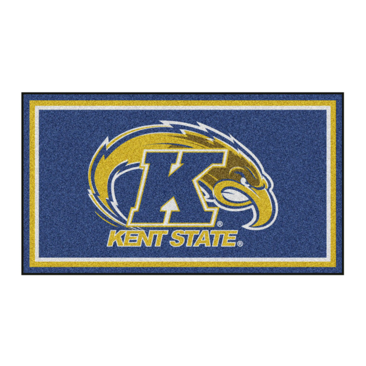 3' x 5' Kent State University Blue Rectangle Rug