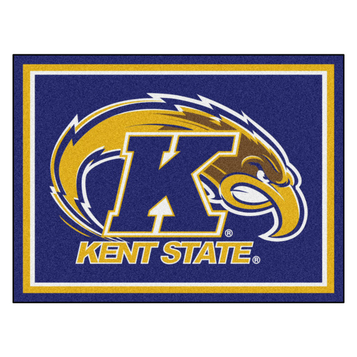 8' x 10' Kent State University Blue Rectangle Rug