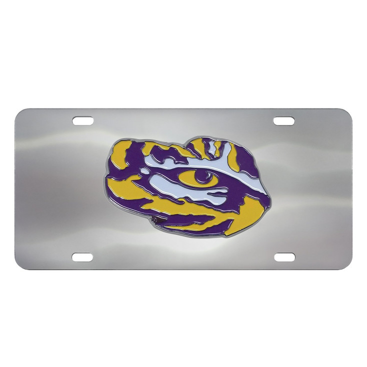 Louisiana State University Diecast Stainless Steel License Plate