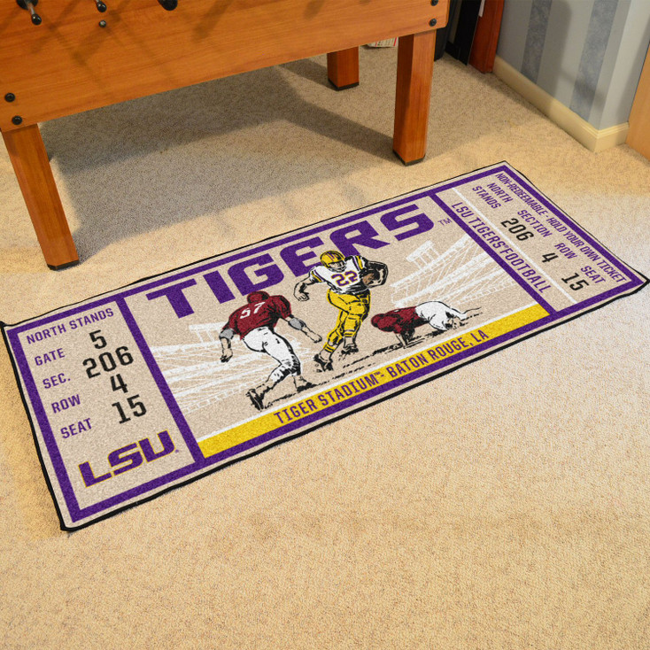 "30"" x 72"" Louisiana State University Ticket Rectangle Runner Mat"