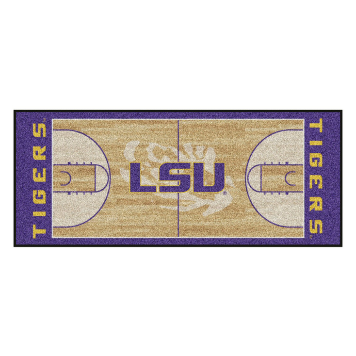"30"" x 72"" Louisiana State University NCAA Basketball Rectangle Runner Mat"