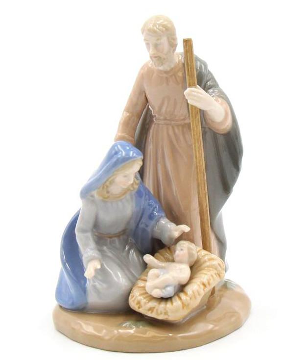 Holy Family Porcelain Figurine Sculpture