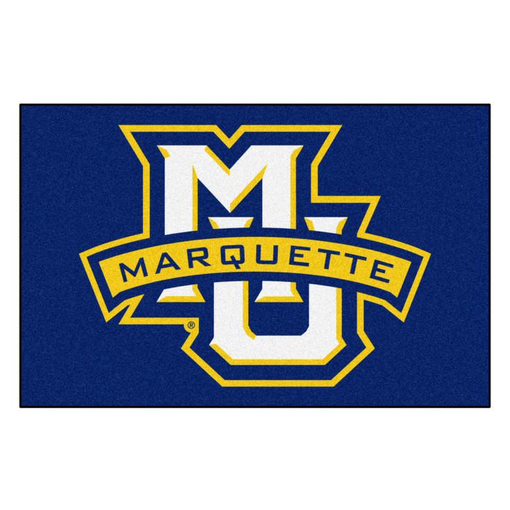 """19"""" x 30"""" Marquette University Navy Blue Rectangle Starter Mat"""