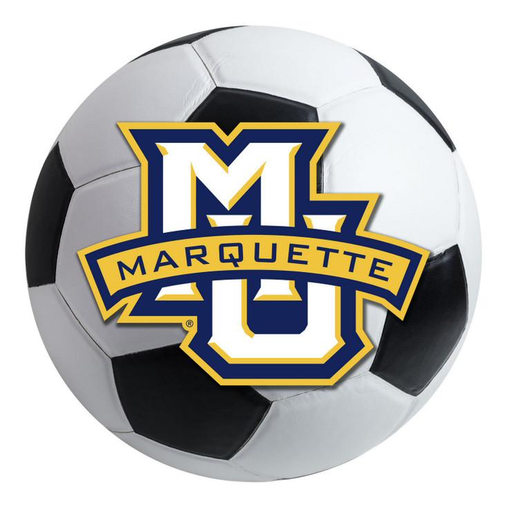 "27"" Marquette University Soccer Ball Round Mat"