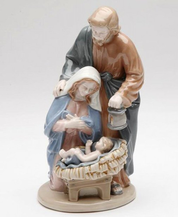 "6.25"" Holy Family Porcelain Sculpture"