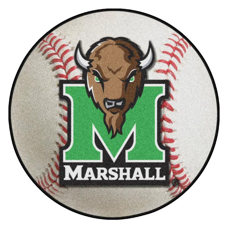 "27"" Marshall University Baseball Style Round Mat"