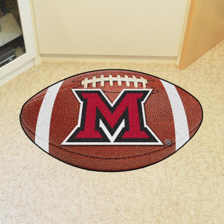 "20.5"" x 32.5"" Miami University (OH) Football Shape Mat"