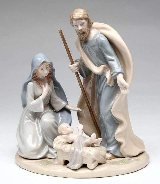 "6.5"" Holy Family Porcelain Sculpture"
