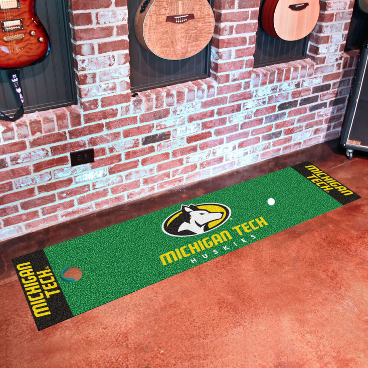"""18"""" x 72"""" Michigan Tech University Putting Green Runner Mat"""