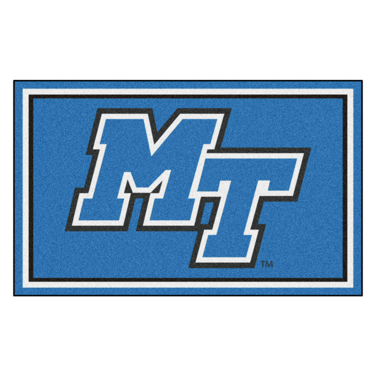 4' x 6' Middle Tennessee State University Blue Rectangle Rug