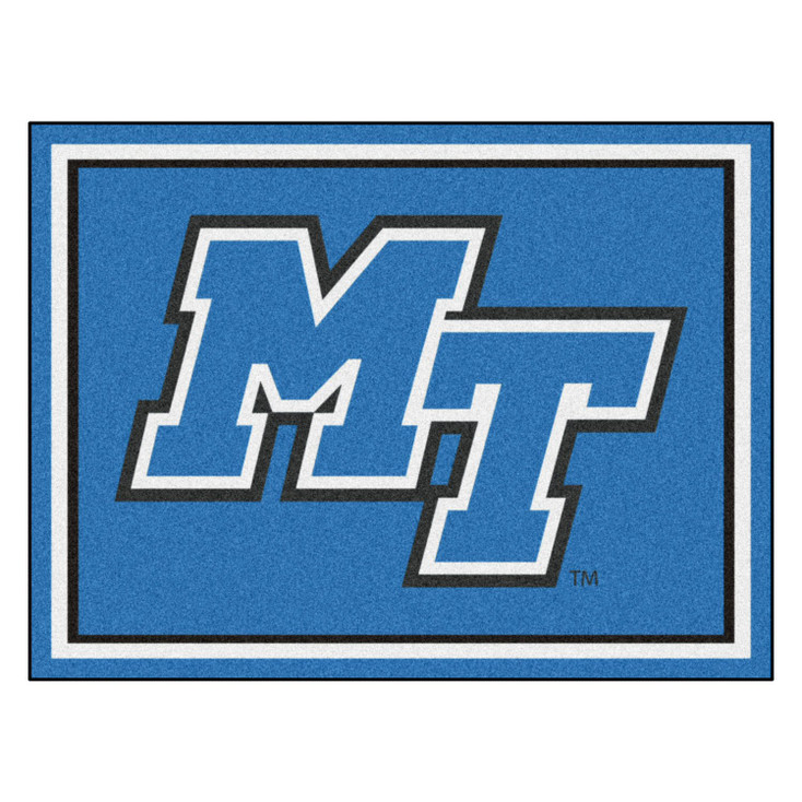8' x 10' Middle Tennessee State University Blue Rectangle Rug