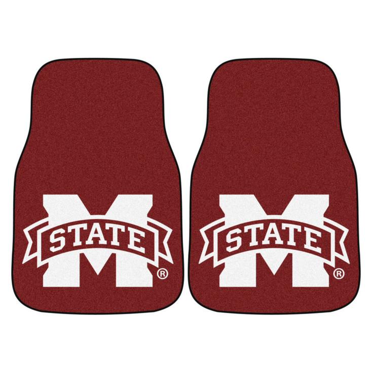 Mississippi State University Maroon Carpet Car Mat, Set of 2