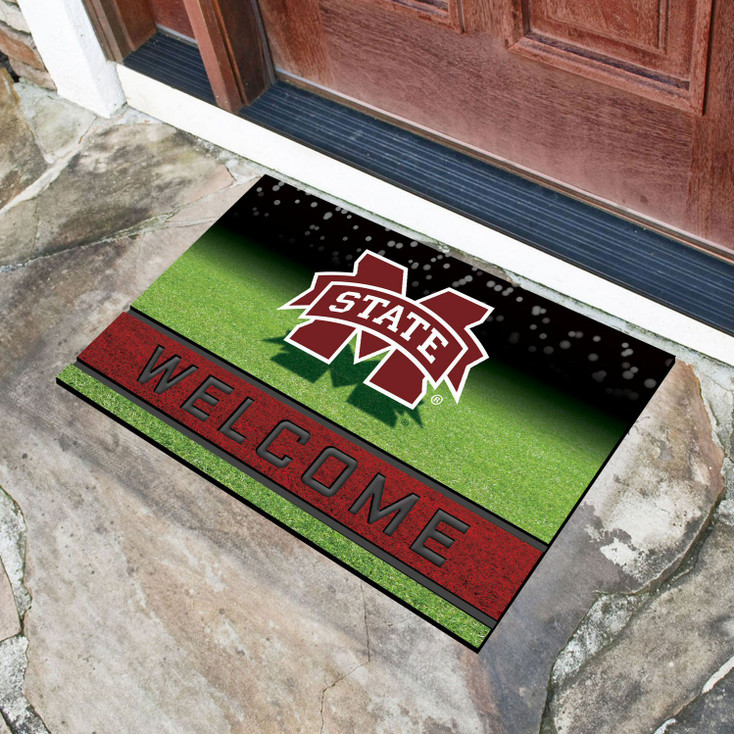 "18"" x 30"" Mississippi State University Crumb Rubber Door Mat"
