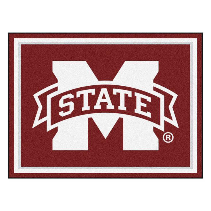 8' x 10' Mississippi State University Maroon Rectangle Rug
