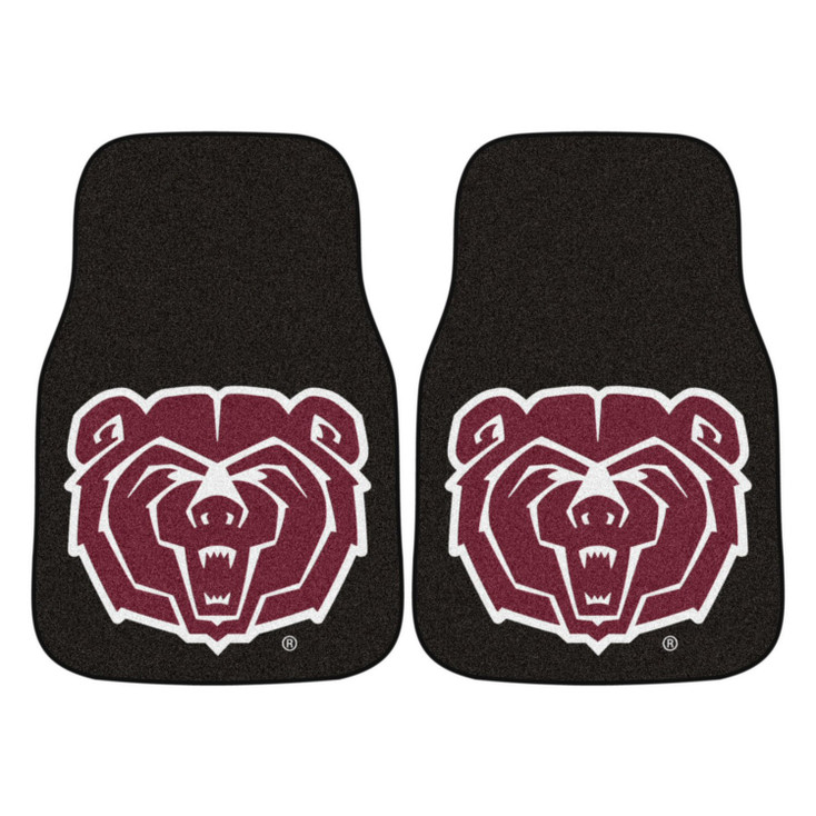 Missouri State University Black Carpet Car Mat, Set of 2
