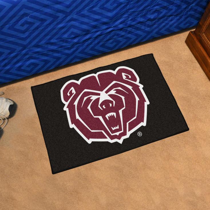 "19"" x 30"" Missouri State University Black Rectangle Starter Mat"