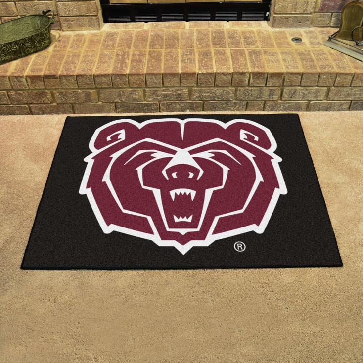 "33.75"" x 42.5"" Missouri State University All Star Black Rectangle Mat"