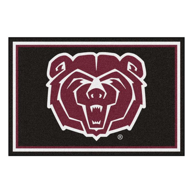 5' x 8' Missouri State University Black Rectangle Rug