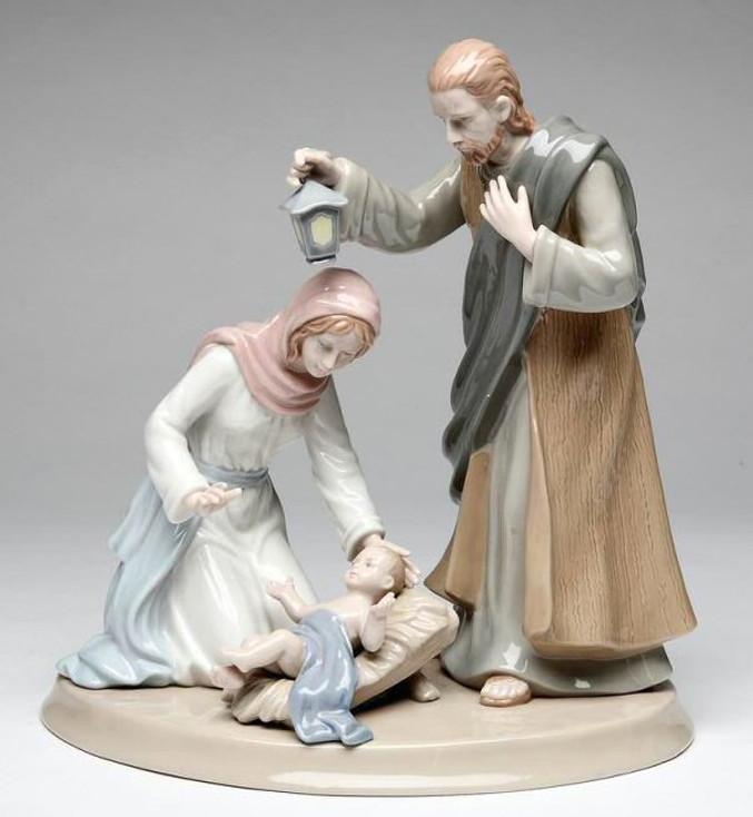 "10.25"" Holy Family Porcelain Sculpture"