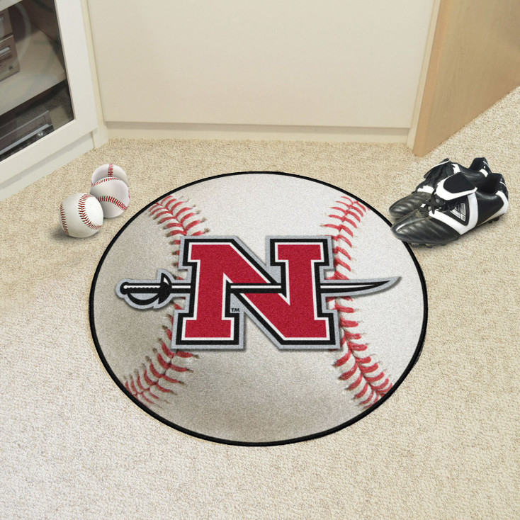 """27"""" Nicholls State University Baseball Style Round Mat"""