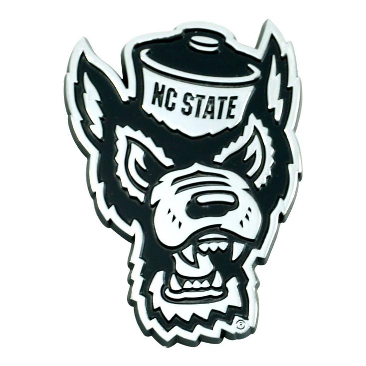 North Carolina State University Chrome Emblem, Set of 2