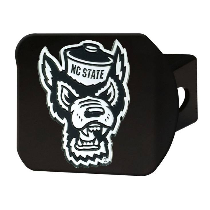 North Carolina State University Hitch Cover - Chrome on Black