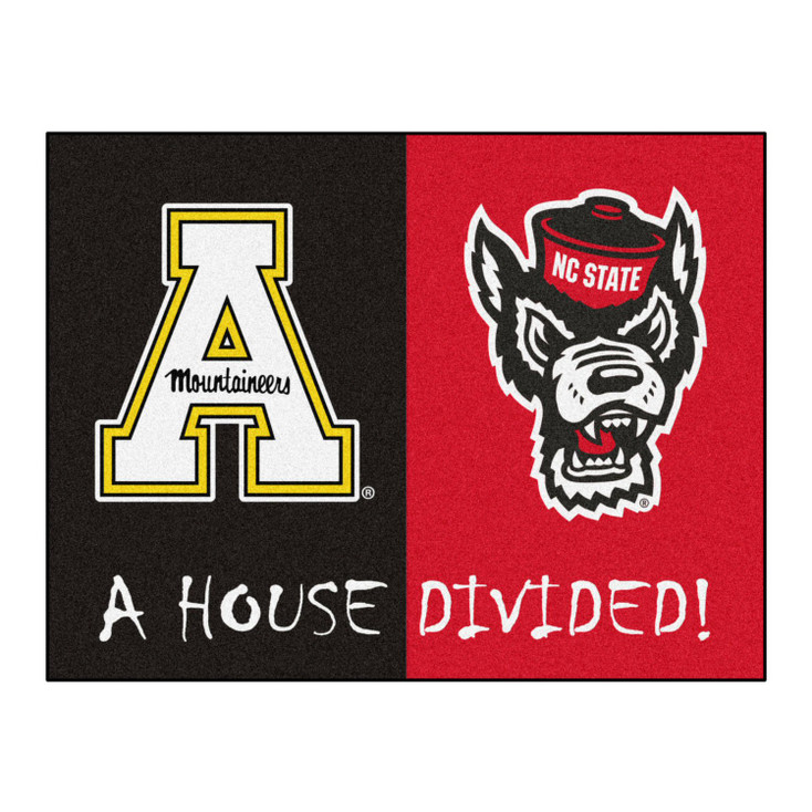 "33.75"" x 42.5"" NC State / Appalachian State House Divided Rectangle Mat"