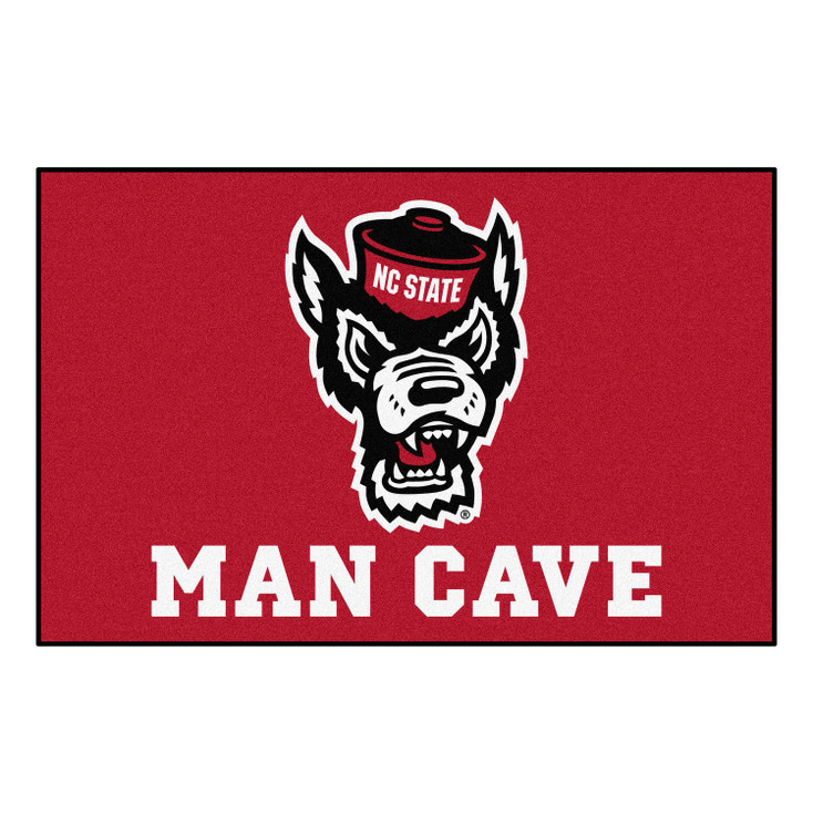 "19"" x 30"" North Carolina State University Wolfpack Red Man Cave Starter Rectangle Mat"