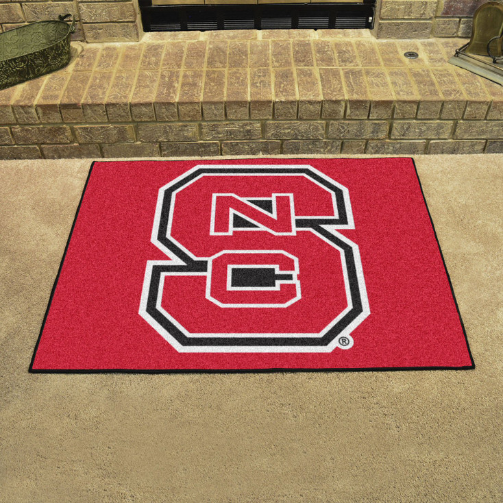 "33.75"" x 42.5"" North Carolina State University All Star Red Rectangle Mat"
