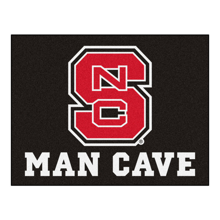 "33.75"" x 42.5"" North Carolina State University Red Man Cave All-Star Rectangle Mat"