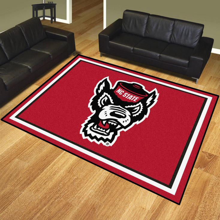 8' x 10' North Carolina State University Red Rectangle Rug