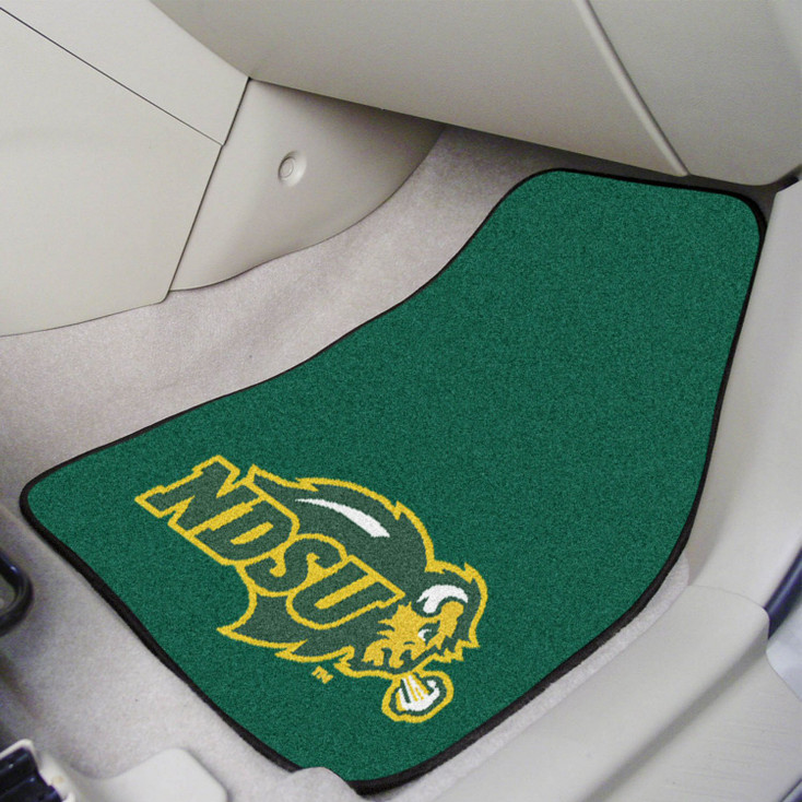 North Dakota State University Green Carpet Car Mat, Set of 2
