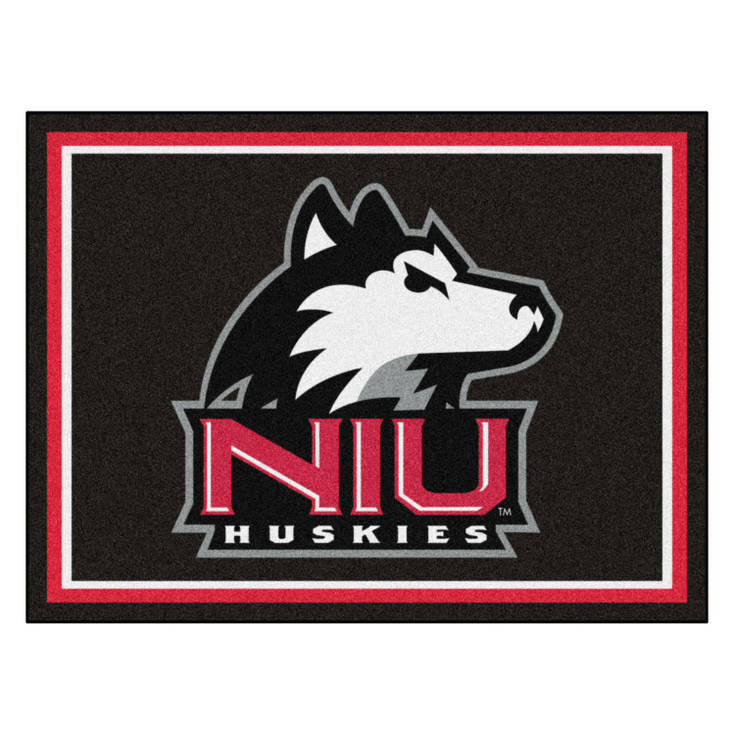 8' x 10' Northern Illinois University Black Rectangle Rug