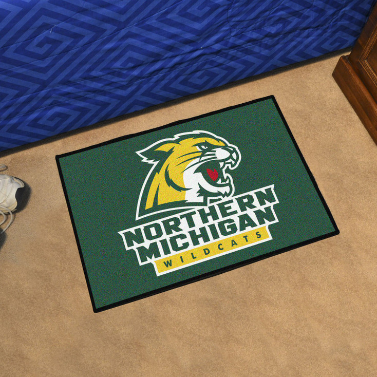 "19"" x 30"" Northern Michigan University Green Rectangle Starter Mat"
