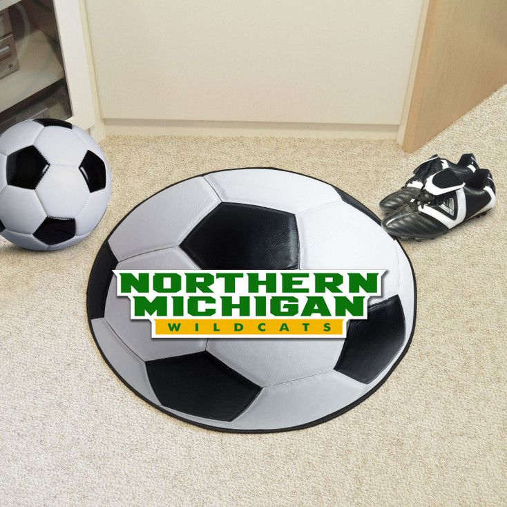 "27"" Northern Michigan University Soccer Ball Round Mat"