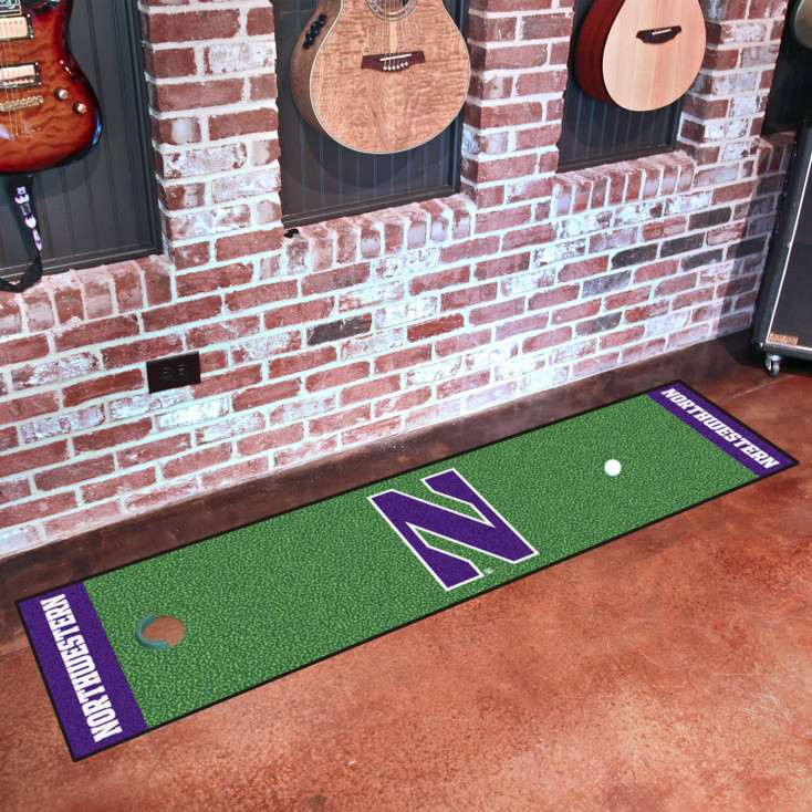 "18"" x 72"" Northwestern University Putting Green Runner Mat"