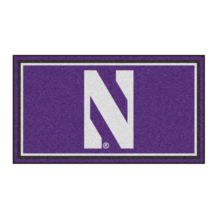 3' x 5' Northwestern University Purple Rectangle Rug