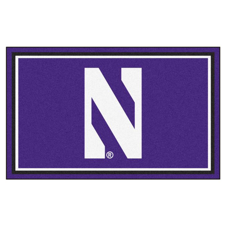 4' x 6' Northwestern University Purple Rectangle Rug
