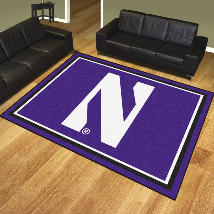 8' x 10' Northwestern University Purple Rectangle Rug