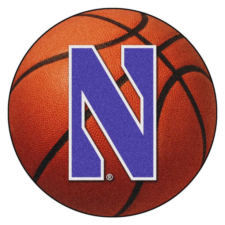 "27"" Northwestern University Basketball Style Round Mat"