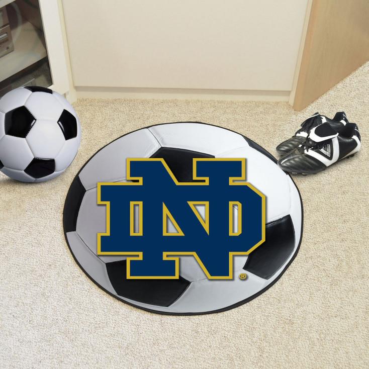 """27"""" Notre Dame Soccer Ball Round Mat"""