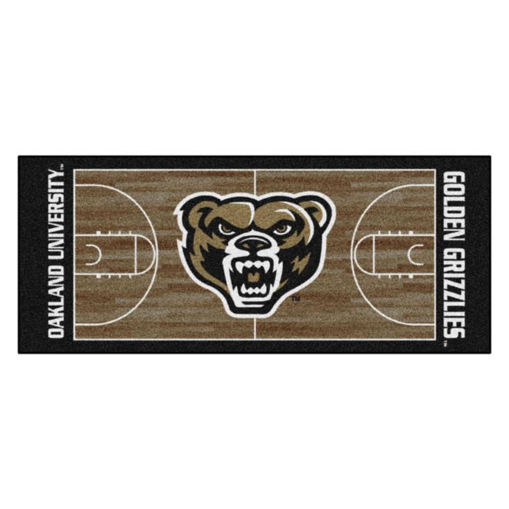 """30"""" x 72"""" Oakland University NCAA Basketball Rectangle Runner Mat"""