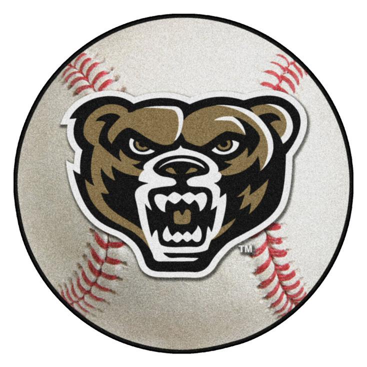 """27"""" Oakland University Baseball Style Round Mat"""