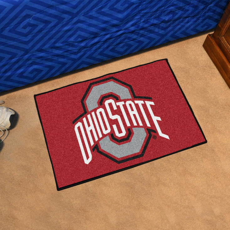 "19"" x 30"" Ohio State University Red Rectangle Starter Mat"