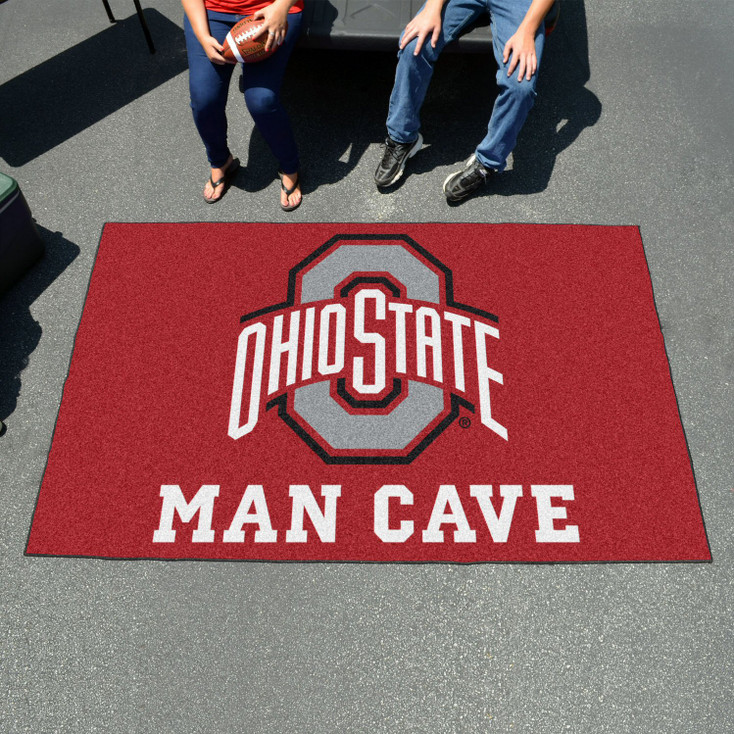 """59.5"""" x 94.5"""" Ohio State University Man Cave Red Rectangle Ulti Mat"""