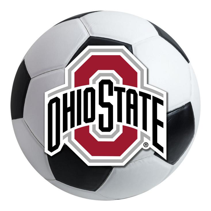 """27"""" Ohio State University Soccer Ball Round Mat"""
