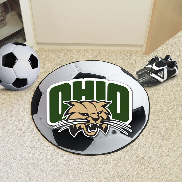 "27"" Ohio University Soccer Ball Round Mat"